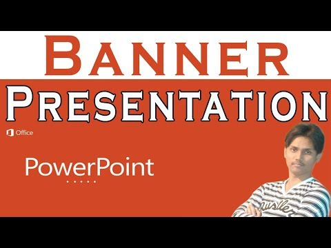 How To Make Banner Presentation In Microsoft PowerPoint Tutorial In Urdu or Hindi
