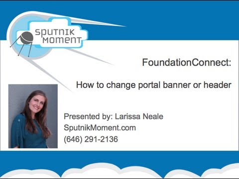 How to Change the Portal Banner - Salesforce FoundationConnect