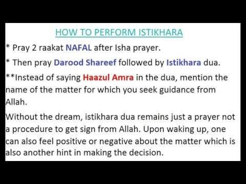 Istakhara in English, Arabic and Urdu. How to Perform Istikhara Dua/prayer