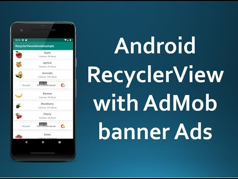 Android RecyclerView with AdMob Banner Ads