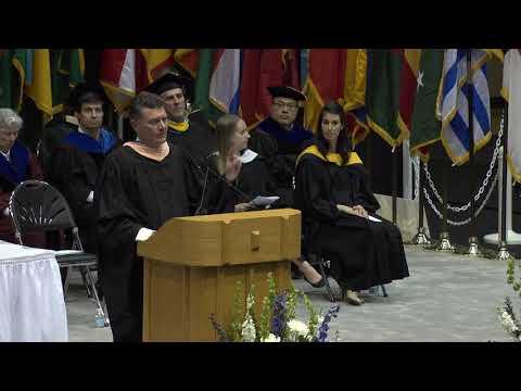 David Snow, Chairman and CEO of Cedar Gate Technologies, speaks at DukeFuqua MMS/MQM Graduation 2018