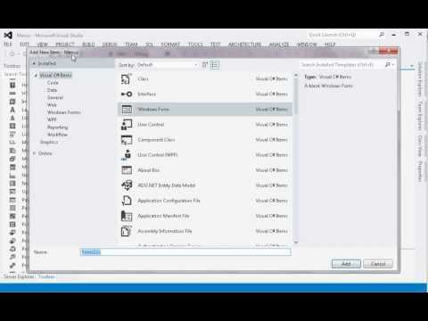 C# Tutorial 7: CSharp Menus within a WinForm