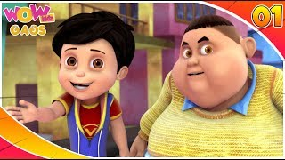 Cartoons For Kids | Best Comedy Scenes Of Vir: The Robot Boy | Part - 1 | WowKidz Gags