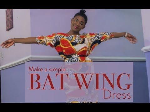 MAKE A SIMPLE BATWING KAFTAN DRESS| SO EASY| DIY