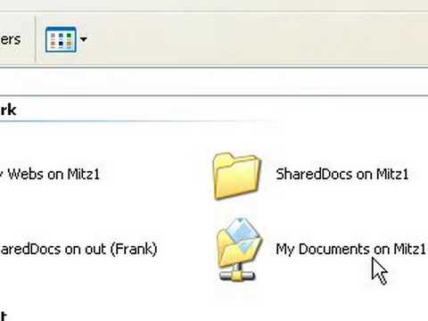 Share files and folders with other computers on your network