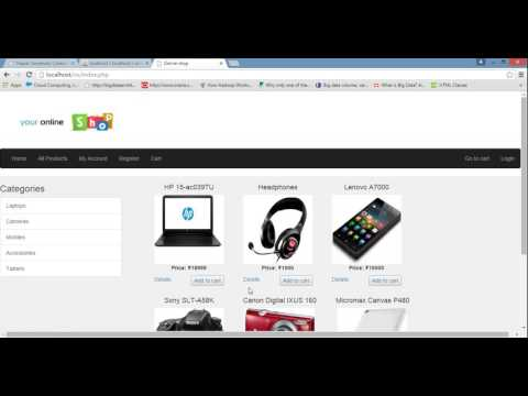 Online Shopping Site using PHP