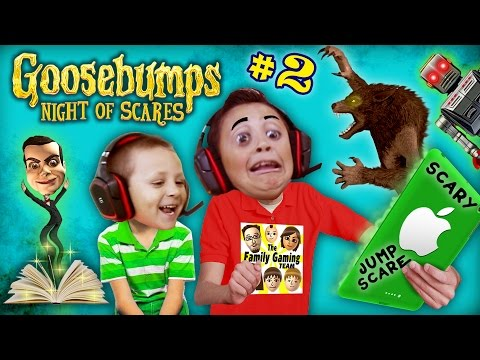 WEREWOLF KNOCKED OFF MIKE's HEAD 🎃@AHHH!@#%👻! GOOSEBUMPS NIGHT OF JUMP SCARES #2 (w/ FGTEEV Chase)