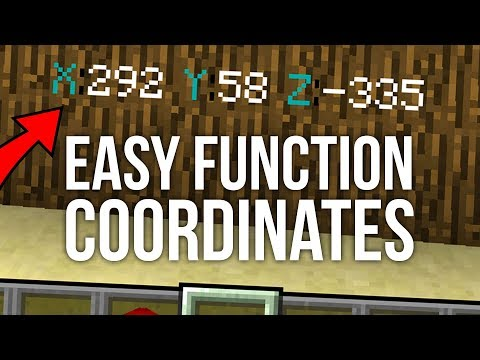 Coordinates Without F3 in Minecraft 1.13
