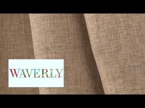 Video of Waverly Glitz Filbert Fabric #650771