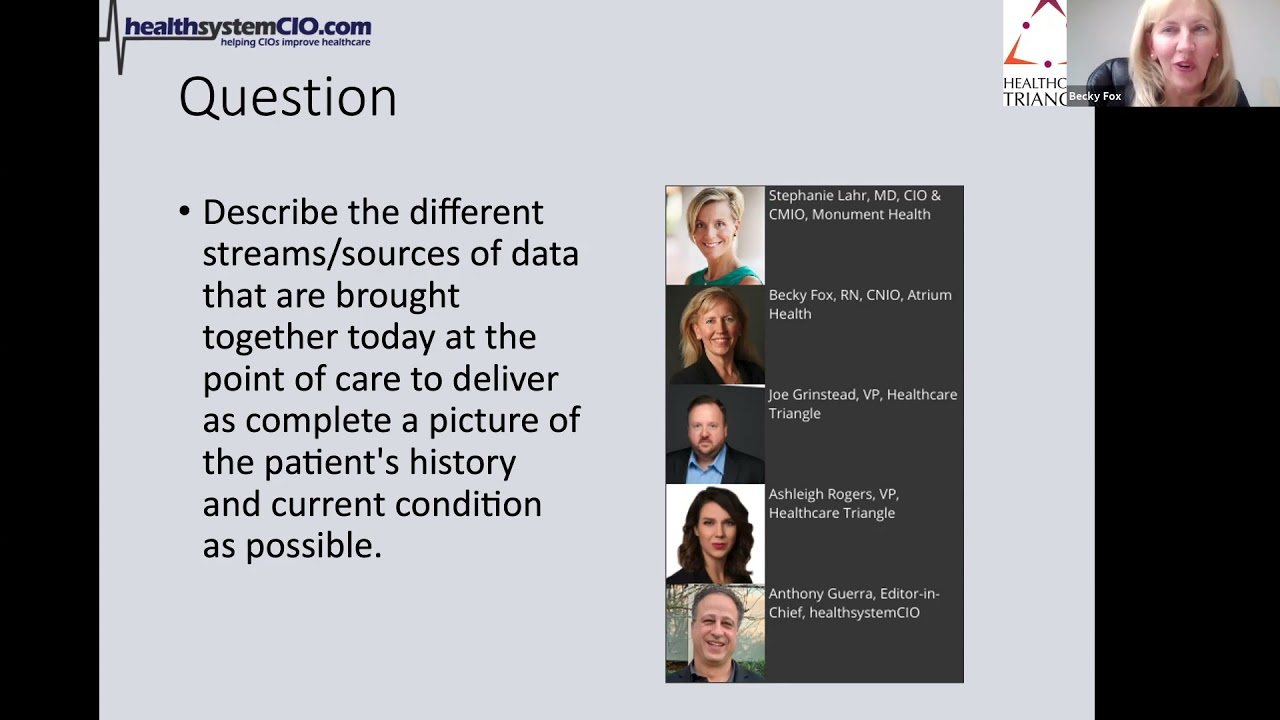 Integrating Disparate Data Sources for a Holistic Patient Picture (Sponsored by Healthcare Triangle)