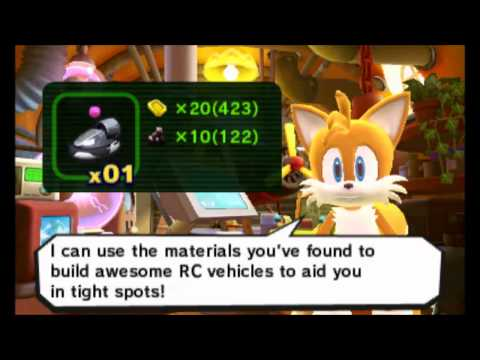 Sonic Lost World (3DS) - All RC Vehicles