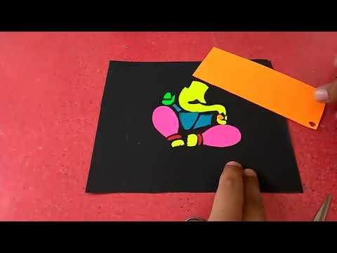 DIY Colorful Lord Ganesha Paper Craft