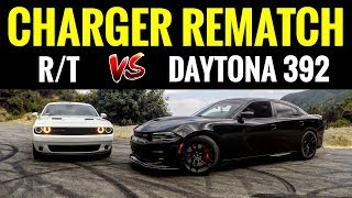 Dodge Charger DAYTONA 392 vs Challenger RT | STREET RACE & BURNOUTS!