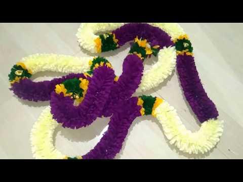 DIY ;  Deepavali Festival Decoration Handmade Mala At Home || Handmade Toran For Decoration