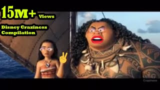 Disney Craziness Compilation #23 Moana Craziness Try not to Laugh Challenge new Moana Ytp