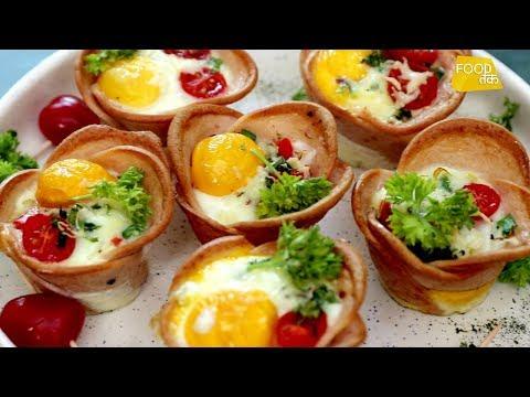 Chicken Salami Egg Cups | Salami Recipe | Bhook Shook | Food Tak