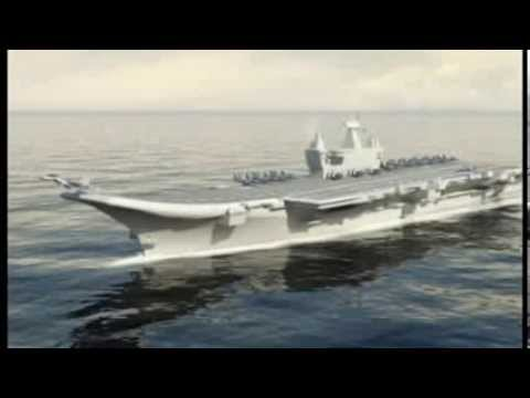 Biggest aircraft carrier in india INS 'Vikrant'