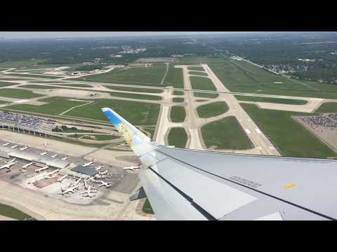 Frontier A320Neo Takeoff DTW