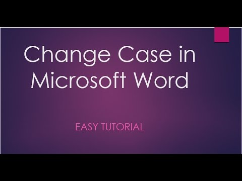 How To Change Case in Microsoft Word (in Hindi) || by Umesh Kumar ||