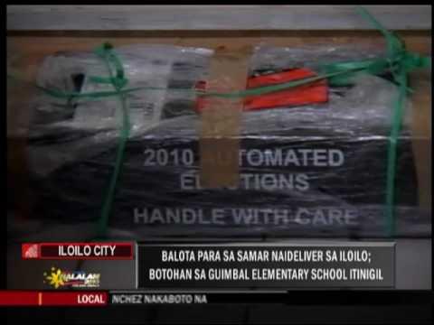 Voters in Iloilo precinct get ballots for Western Samar