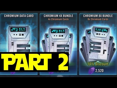 STAR WARS: Galaxy of Heroes (iOS/Android) OPENING DATA CARDS part 2
