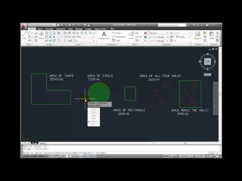 AutoCAD 2011 Tutorial - Measuring Volume