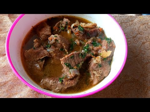 Cow Pepper Soup: How to make Spicy Pepper Soup