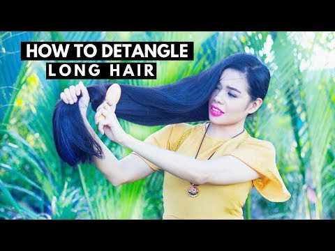 How To Detangle Long Hair & Avoid Breakage & Split Ends -Get Rid of Knots In Hair Naturally