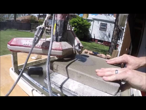 Cutting Concrete Pavers With Cheap Tile Saw