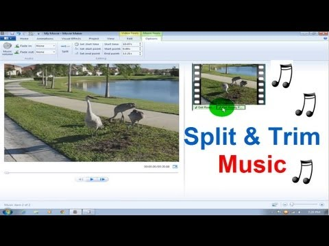 Windows Movie Maker Tutorial Windows 7 - Music / Song Split & Trim