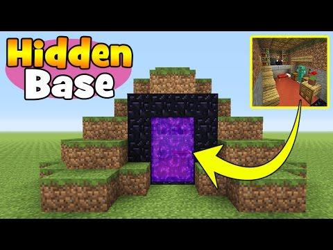 Minecraft Tutorial: How To Make A Hidden Base Inside a Nether Portal