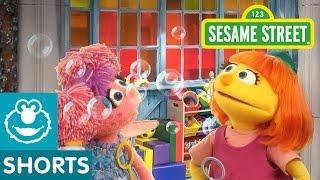 Sesame Street: Making Bubbles! | Julia & Abby Cadabby