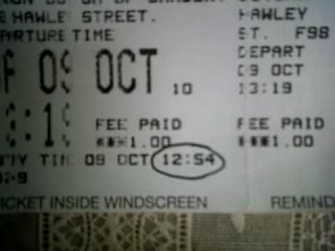 Parking warden gives fine as parking ticket IS PURCHASED!