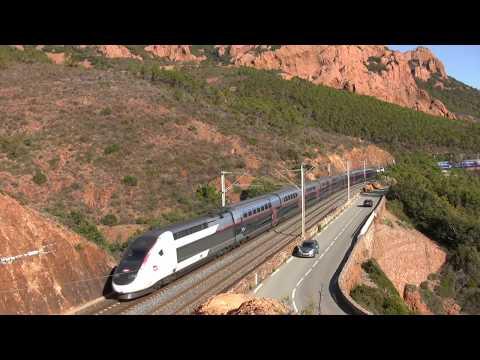 Des TGV et des TER entre St Raphaël et  Cannes