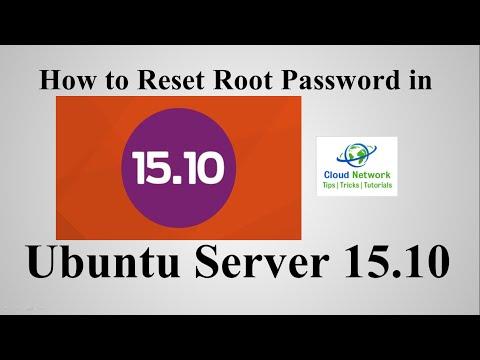 How to Reset Root Password in Ubuntu Server 15.10 ( Wily Werewolf )