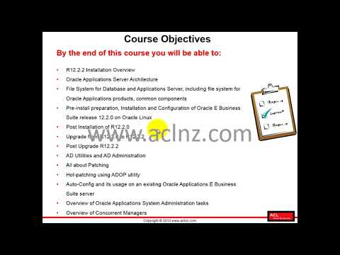 R12.2 Install, Patch and Maintain Oracle E-Business Suite - Module 1 Lesson 1