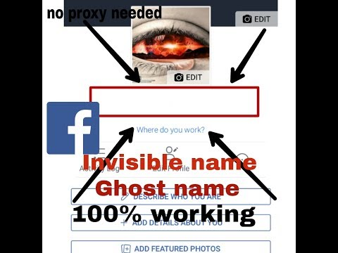 How to create invisible name fb account urdu/Hindi without any proxy and VPN New method 2018