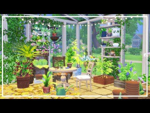 GREENHOUSE SIMS 4 + CC List | Room Build