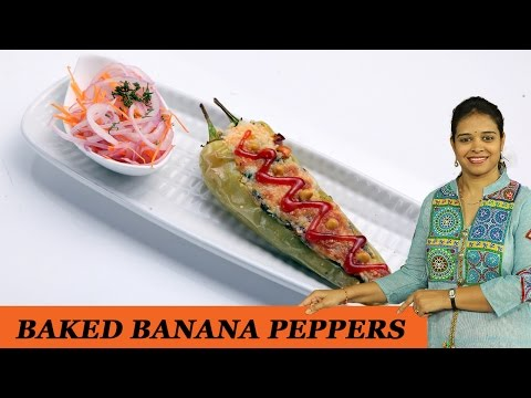 BAKED BANANA PEPPERS - Mrs Vahchef