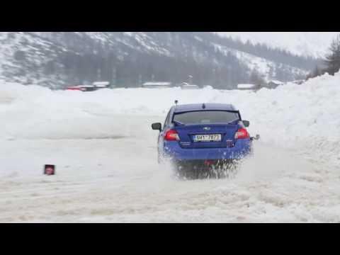 Subaru WRX STI drifting in Livigno 2017