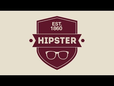 Design A Hipster Badge / Logo In Photoshop