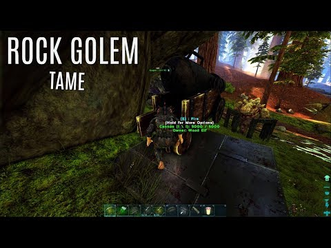 ROCK GOLEM TAME and The Metal Saddle - The Center PVP (E17) - ARK Survival