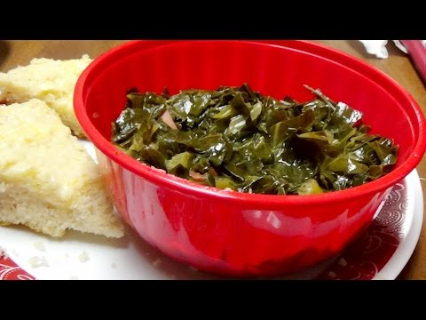 Recipe for Power Pressure Cooker XL Collard Greens with Ham Hock & Cornbread