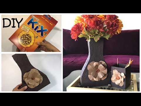 Imagine What You Could Do With Cereal Box / DIY Vase DIY Table Topper