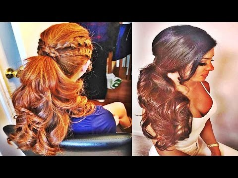 Awesome Formal Side Ponytail For Womens Long Hair