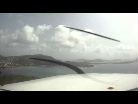 Flying to Tortola, BVI in a 172