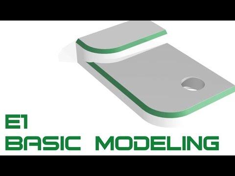 E1 Autodesk Inventor 2017 - Basic Modeling 1 Tutorial