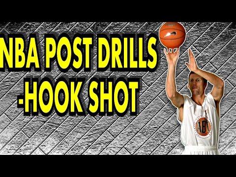 N.B.A. Post Drills 1 Dribble Hook Shot