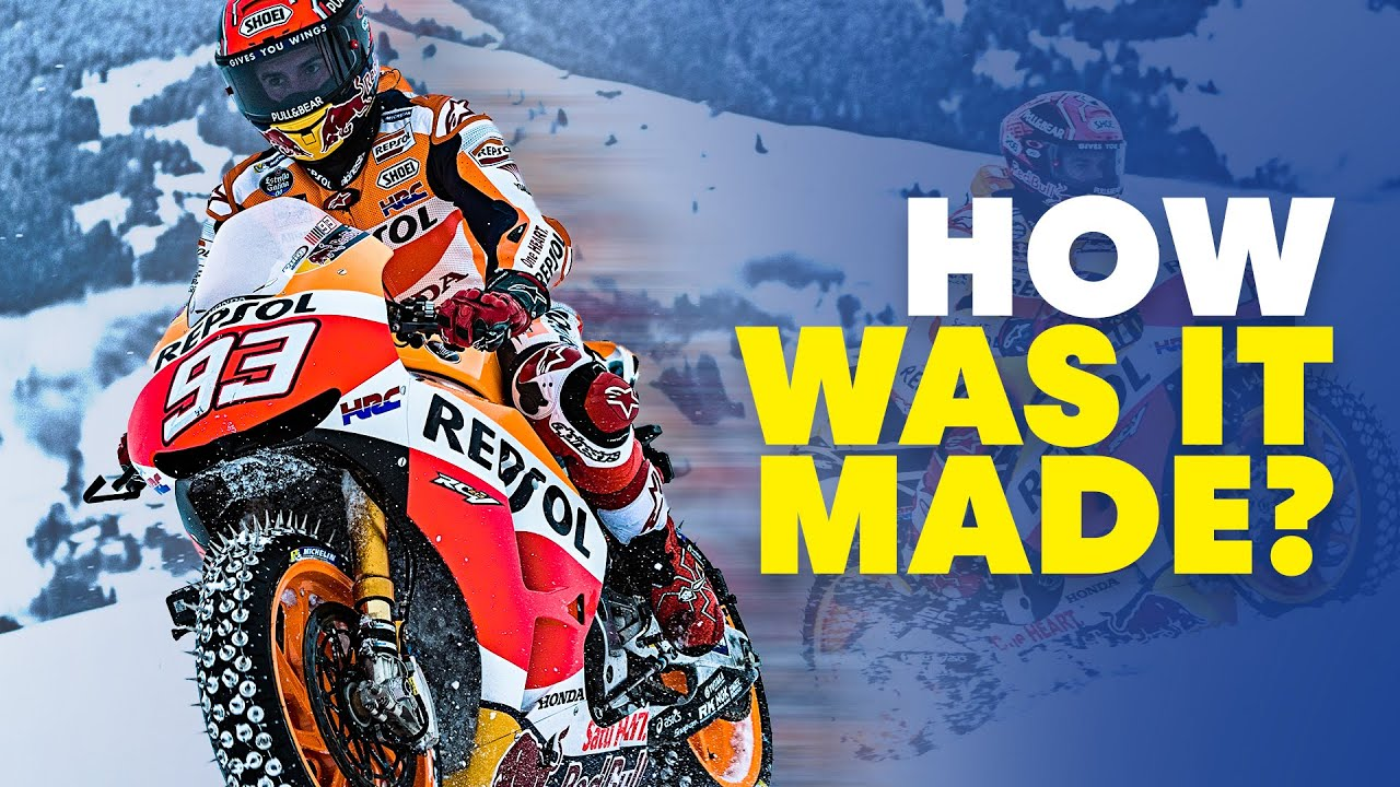 Marc Marquez Rides Motorbike On Ski Slope   How Was It Made?   Red Bull