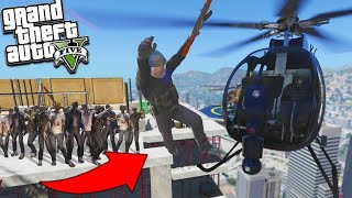 GTA 5 : MICHAEL SAVES MILITARY COLONEL FROM ZOMBIES || BB GAMING
